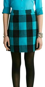 Banana Republic Mini Skirt blue and black