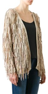 Mes Demoiselles Paris Free People Folichon Suede Leather Bohemian Jacket Cardigan