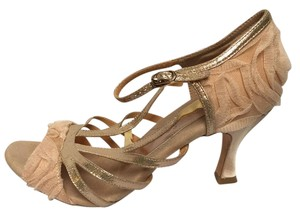 Capezio Latin Ballroom Dance Leather Sole Satin/leather Upper Dance Baby Doll Blush (Rose Gold) Pumps