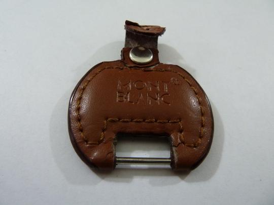 Montblanc Montblanc Leather/Steel Key Fob 100% AUTHENTIC