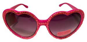 Betsey Johnson NEW! Rhinestone Heart Sunglasses