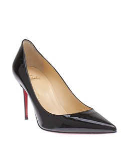 Christian Louboutin Loubs Patent Leather Black Pumps