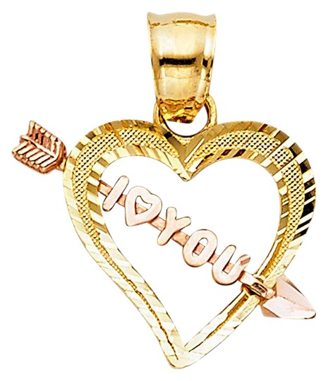 Preload https://img-static.tradesy.com/item/21069477/yellow-gold-14k-two-tone-i-love-you-cupid-arrow-heart-pendant-charm-0-1-540-540.jpg