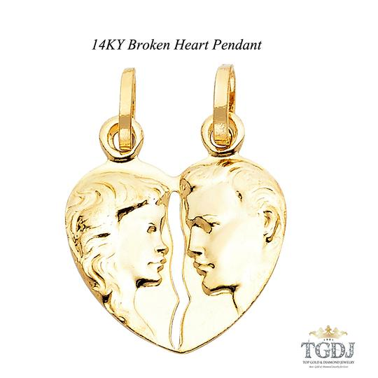 Preload https://img-static.tradesy.com/item/21069506/yellow-gold-14k-broken-heart-pendant-charm-0-0-540-540.jpg