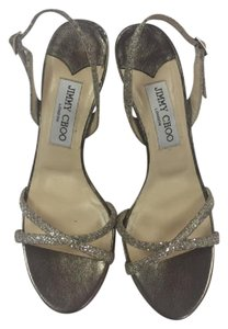 Jimmy Choo Designer Metallic Protective Sole Silver Formal