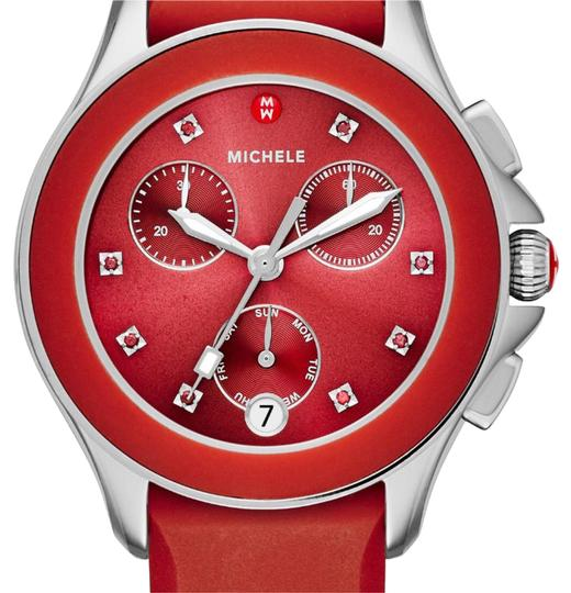 Preload https://item2.tradesy.com/images/michele-red-watch-21069576-0-1.jpg?width=440&height=440