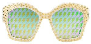 Gucci Gucci Square frame Star Stud Ivory Sungalsses