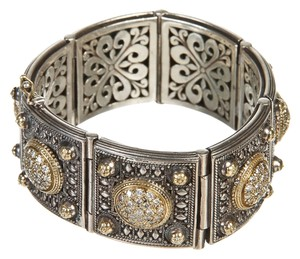Konstantino Konstantino Sterling Silver Gold and Diamond Bracelet