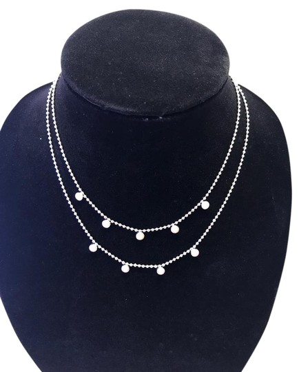 Preload https://item3.tradesy.com/images/monet-silver-and-pearl-double-strand-necklace-21069772-0-1.jpg?width=440&height=440