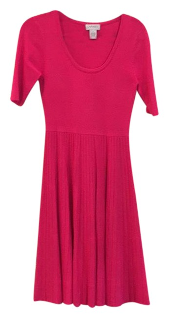 Preload https://item3.tradesy.com/images/carmen-marc-valvo-fushia-knee-length-knit-mid-length-workoffice-dress-size-4-s-21069822-0-1.jpg?width=400&height=650