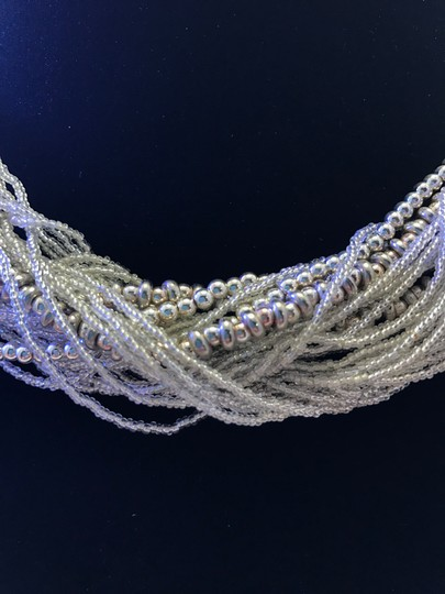 Other Beaded Silver Multi Strand Necklace