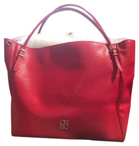 Carolina Herrera Satchel in lipstick red