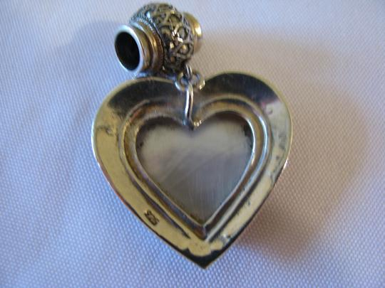 Other Sterling Silver, Marcasite, Mother of Pearl Heart Pendant