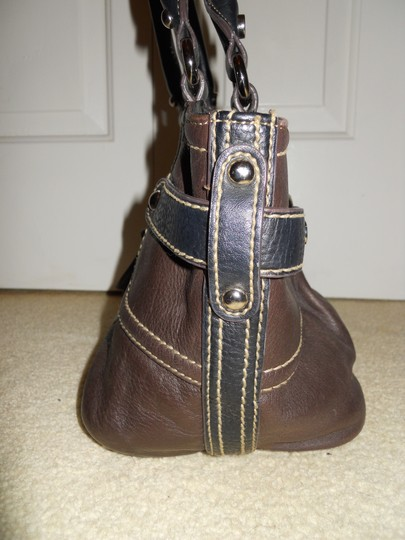 Tignanello Leather Tote in brown & black