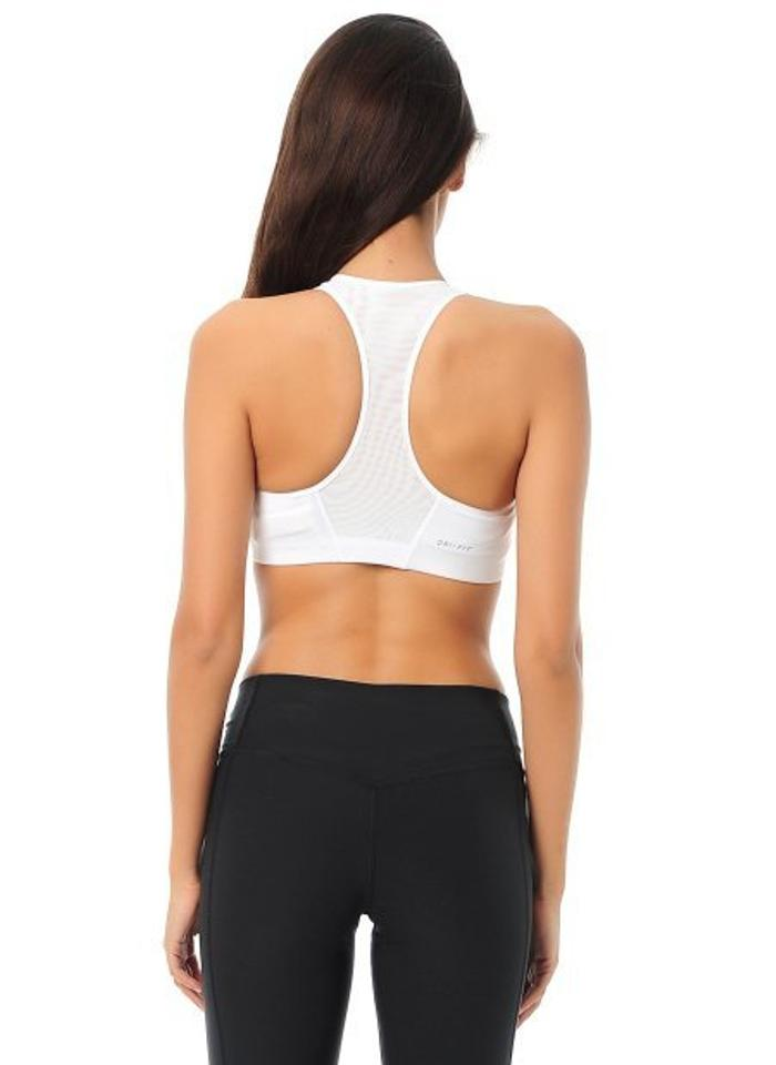 926e682dd66b1 Nike White Compression Swoosh Activewear Sports Bra Size 2 (XS