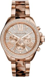 Michael Kors New Wren Michael Kors MK6159 Tortoise Rose Gold-Tone Wren Watch