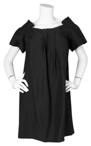 3.1 Phillip Lim short dress Black Ruffle Linen Shift on Tradesy