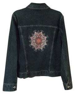 Ami Colored Graphic Design blue and multi Womens Jean Jacket