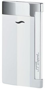S.T. Dupont S.T. Dupont Slim 7 Single Torch Flame Lighter White Lacquer & Chrome 2