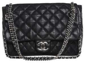 Chanel Chain Around Quilted Jumbo Caviar Shoulder Bag