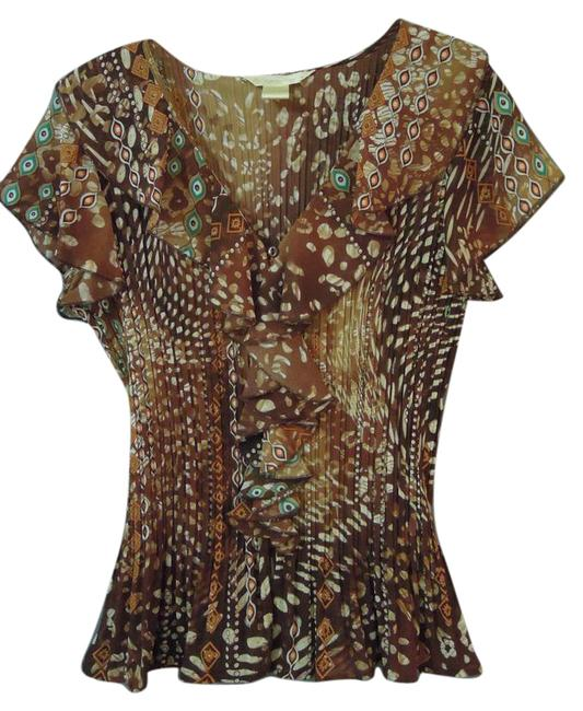 Preload https://item2.tradesy.com/images/new-york-and-company-brown-multi-91104-blouse-size-12-l-21070246-0-1.jpg?width=400&height=650