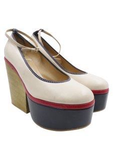 Dolce&Gabbana Dolce & Gabbana Leather White Blue Red Platforms