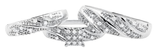 Preload https://item5.tradesy.com/images/10k-white-gold-ladies-and-mens-round-diamond-bridal-wedding-set-trio-050ct-ring-21070304-0-1.jpg?width=440&height=440