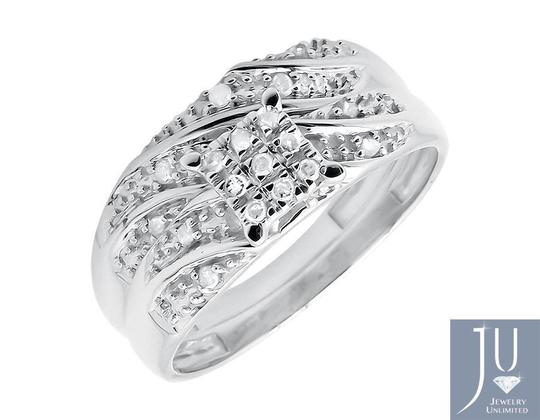 Other Ladies and Mens Round Diamond Bridal Wedding Ring Set Trio 0.50ct
