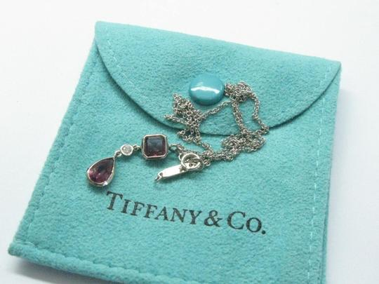 Tiffany & Co. Tiffany & Co 18Kt Pink Tourmaline Diamond White Gold Necklace