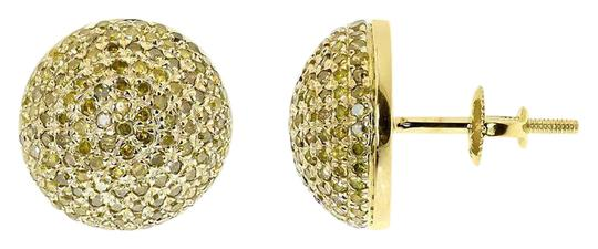 Preload https://item1.tradesy.com/images/10k-yellow-gold-mens-ladies-round-canary-pave-diamond-12mm-studs-12-ct-earrings-21070320-0-1.jpg?width=440&height=440