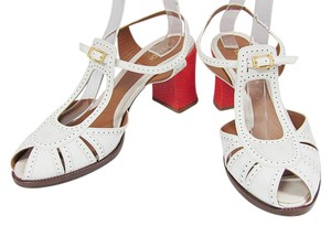 Fendi Patent Leather Heels Calfskin white Sandals