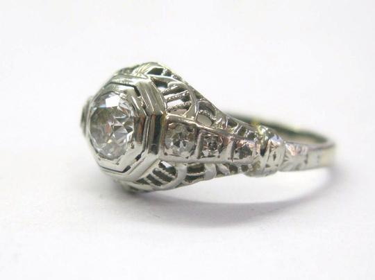 Other 18Kt VINTAGE Old European Cut Diamond Engagement Ring .72CT WG