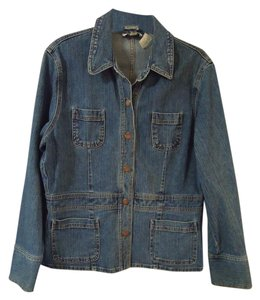 Jones New York Brass Buttons blue Jacket