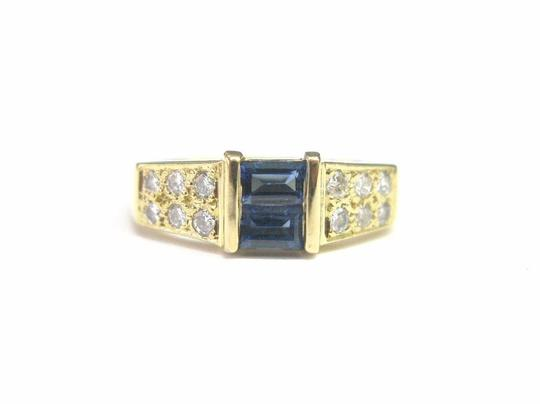 Cartier Cartier 18Kt Gem Sapphire Diamond Anniversary Ring .76Ct