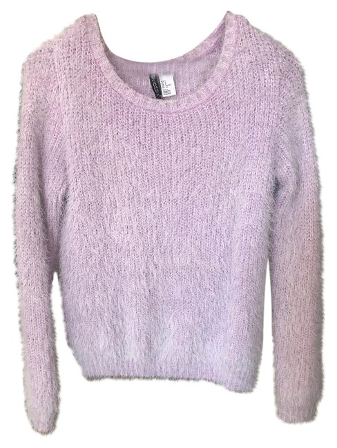 Preload https://img-static.tradesy.com/item/21070366/h-and-m-lavender-divided-sweaterpullover-size-4-s-0-1-650-650.jpg