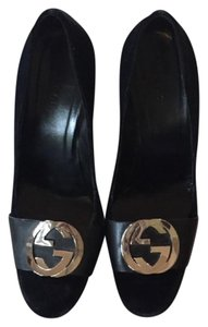 Gucci Vintage Gg Logo black Pumps