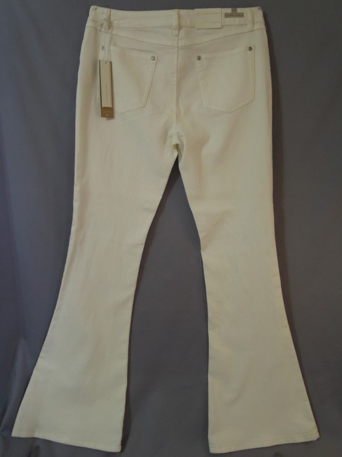LC Lauren Conrad Denium New Flare Pants antique white