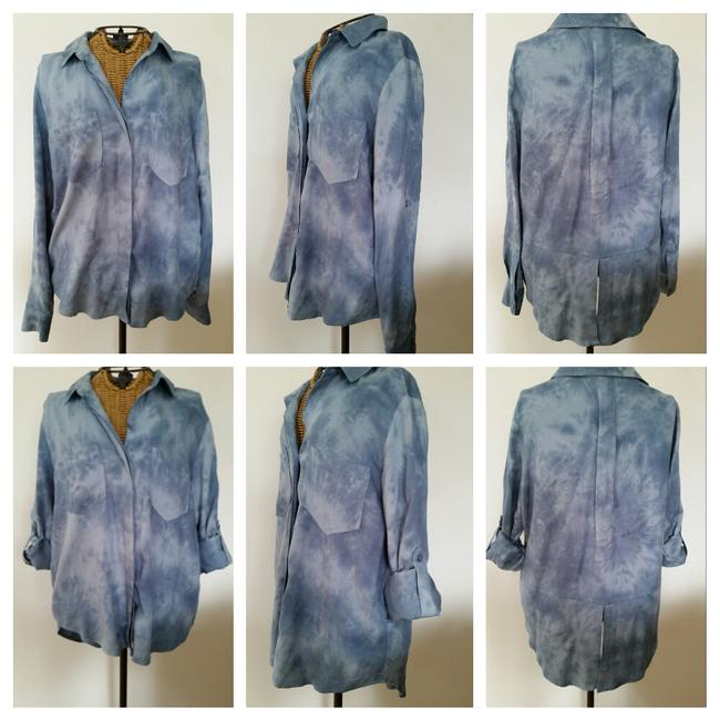 Aqua Stonewash Jean Shirt Button Down Shirt