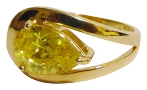 Technibond Technibond Lab Created Canary Pear Shape CZ size 7