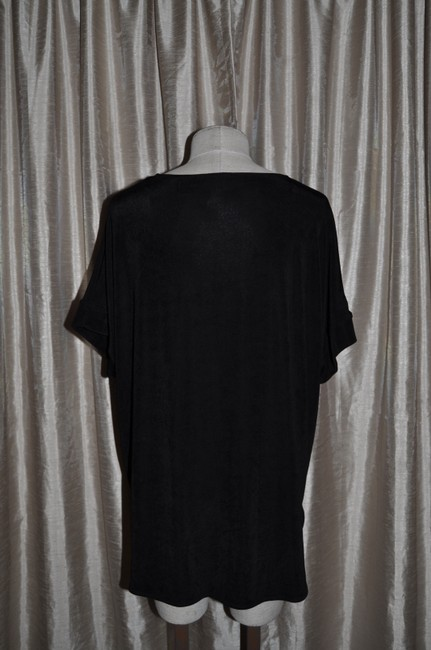 Chico's Travelers Tossed Dots Vacation Resort Top Black