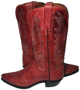 Lucchese 1883 10 Women Size 10 Red Boots