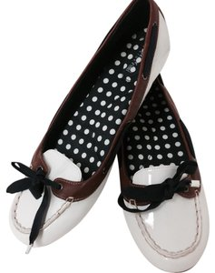 Sperry Nautical Ribbon Bow White Flats