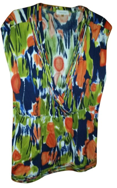 Preload https://item1.tradesy.com/images/calvin-klein-orange-navy-green-and-white-sleeveless-multi-color-blouse-size-20-plus-1x-21070475-0-1.jpg?width=400&height=650