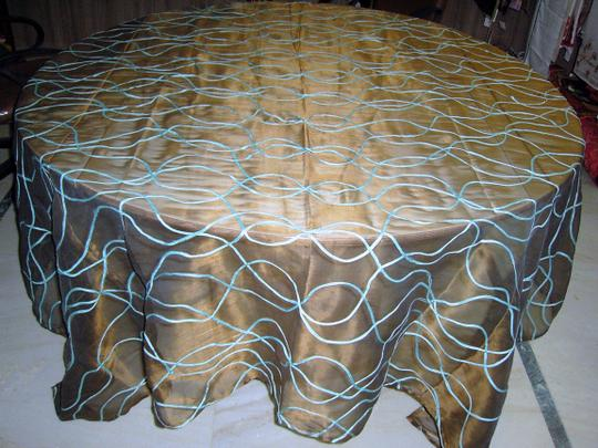 Brown Table Topper-vs006b Tablecloth
