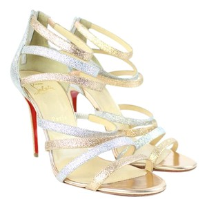 Christian Louboutin Strappy Gladiator Open Tote Ankle Boot Bootie Multicolor Sandals