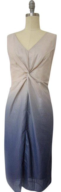 Preload https://item1.tradesy.com/images/ronen-chen-beige-blue-ombe-sheath-mid-length-cocktail-dress-size-4-s-21070500-0-1.jpg?width=400&height=650
