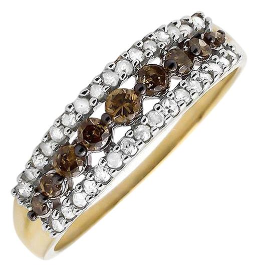Preload https://item2.tradesy.com/images/10k-yellow-gold-3-rows-brown-and-white-genuine-diamond-wedding-band-050ct-ring-21070521-0-1.jpg?width=440&height=440