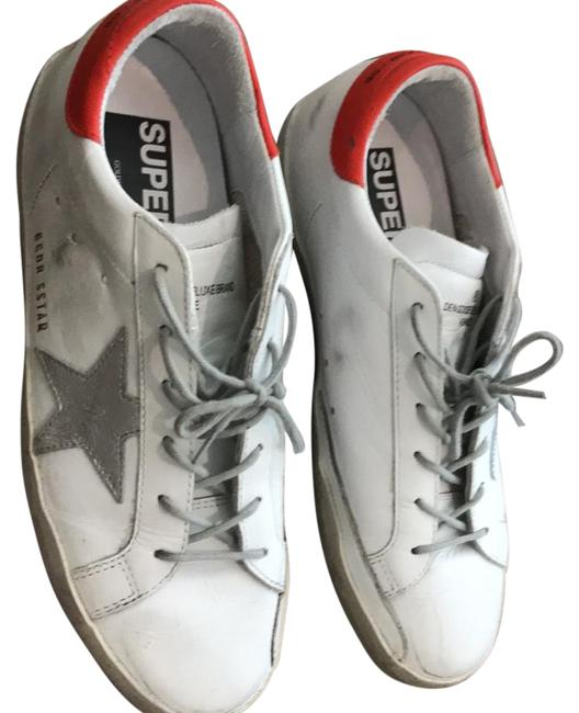 Item - White with Silver Star and Red Back Tip. Worn Once. Purchased From Net-a-porter. Sneakers Size US 8 Regular (M, B)