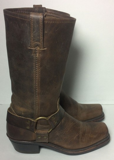 Frye 77300 Harness Motorcycle 7 Women Size 7 Brown Boots