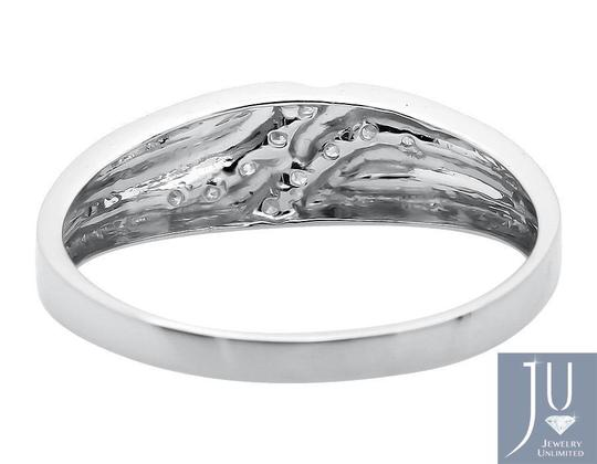 Jewelry Unlimited Channel Set Diagonal Round Real Diamond Wedding Band Ring 0.12ct. Image 2